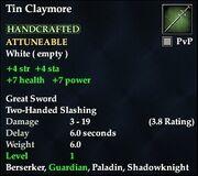 Tin Claymore