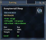 Scorpion-tail Hoop