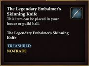 The Legendary Embalmer's Skinning Knife