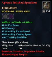 Aphotic Polished Spaulders