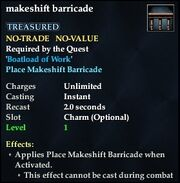 Makeshift barricade
