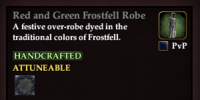 Red and Green Frostfell Robe