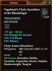 Vagabond's Chain Spaulders of the Bloodsinger