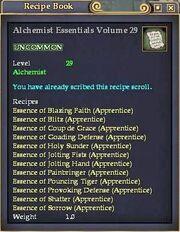 Alchemist Essentials Volume 29