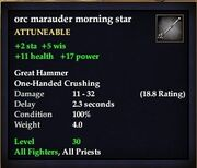Orc marauder morning star