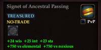 Signet of Ancestral Passing