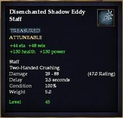 Disenchanted Shadow Eddy Staff