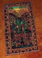 A pristine antonican rug (Visible)
