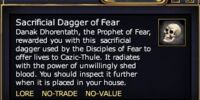 Sacrificial Dagger of Fear