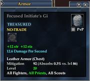 Focused Initiate's Gi