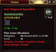 Iron Vanguard Spaulders