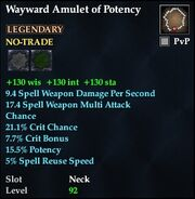 Wayward Amulet of Potency