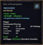 Kris of Redemption