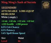 Ning Ning's Sash of Secrets