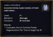 Oasis refresher
