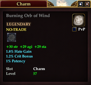 Burning Orb of Wind