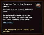 Norrathian Express Box, Gorowyn Branch