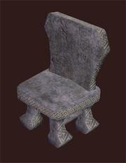 Hewn-stone-chair