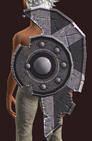 Thexian Steel Tower Shield (Equipped)