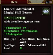 Lambent Adornment of Magical Skill (Lesser)