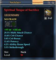 Spiritual Torque of Sacrifice