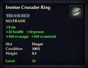 Irontoe Crusader Ring