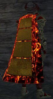 Large Bronze Splinted Cloak (Equipped)