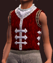 Snappy Red and White Vest (Equipped)