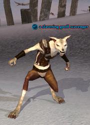 A slavering gnoll scavenger