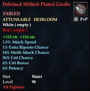 Polished Mithril Plated Girdle