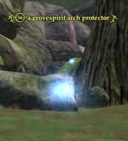 A grovespirit arch protector