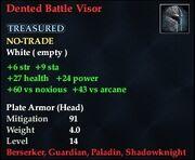 Dented Battle Visor