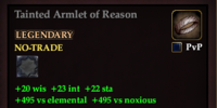 Tainted Armlet of Reason