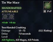 Tin War Mace
