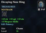 Decaying Nose Ring