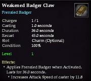 Weakened Badger Claw