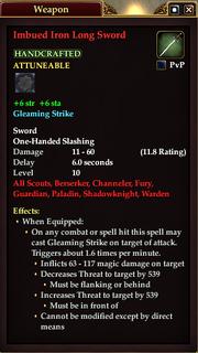 Imbued Iron Long Sword