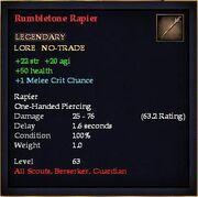 Rumbletone Rapier
