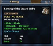 Earring of the Lizard Tribe