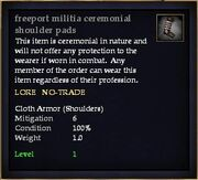 Freeport militia ceremonial shoulder pads