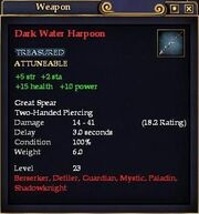 Dark Water Harpoon