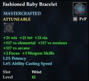 Fashioned Ruby Bracelet