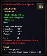 Gauntlets of Glorious Speed
