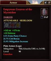Empyrean Greaves of the Myrmidon