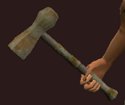 Iron War Hammer (Equipped)