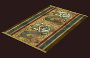A pristine sackcloth rug (Visible)