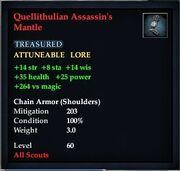 Quellithulian Assassin's Mantle