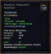 Rujarkian Taskmaster's Spaulders