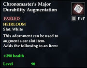 Chronomaster's Major Durability Augmentation