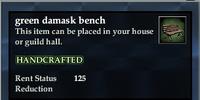 Green damask bench